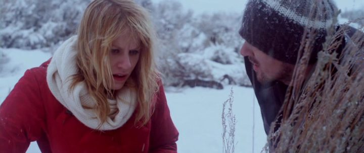 Brit Morgan and Seth David Mitchell in the film The Frozen